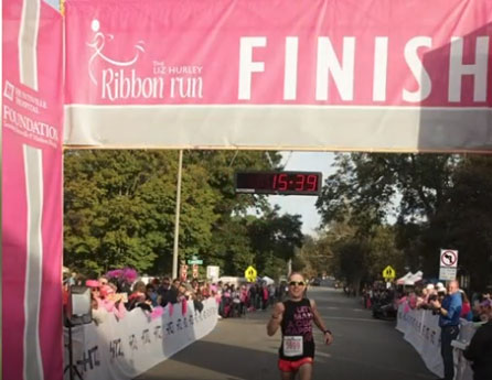 All-star runner dedicates Ribbon Run to his mom